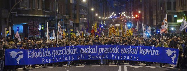 Demo in Bilbao für die Freiheit der politischen Gefangenen